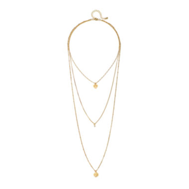jcpenney.com | Mixit™ Gold-Tone 3-Row Tree of Life Necklace