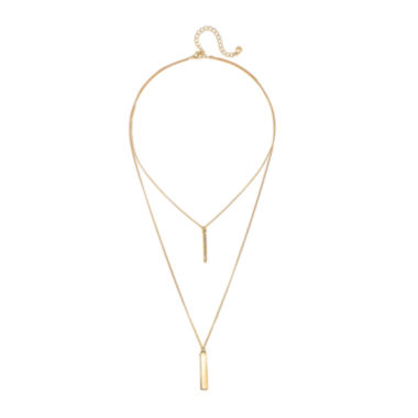 jcpenney.com | Mixit™ Gold-Tone 2-Row Bar Necklace