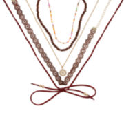 Decree® 5-pc. Brown Choker Necklace Set