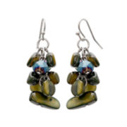 Mixit™ Olive Shell Cluster Earrings