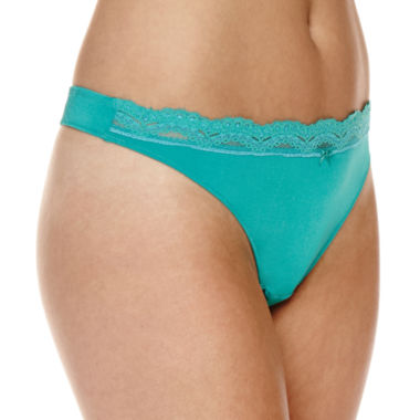 jcpenney.com | Marie Meili Microfiber Thong Panty