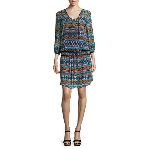 STYLUS™ Long-Sleeve Drop-Waist Dress - Tall