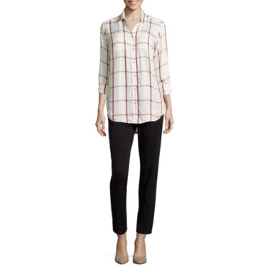 jcpenney.com | Stylus™ Long-Sleeve Oversized Shirt or Crossover Ankle Pants