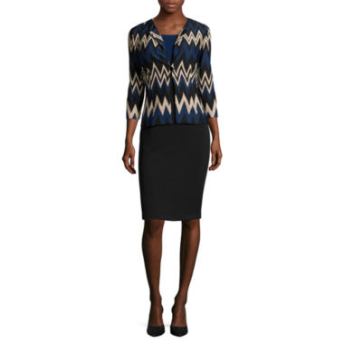 jcpenney.com | Danny & Nicole® 3/4-Sleeve Chevron Colorblock Jacket Dress