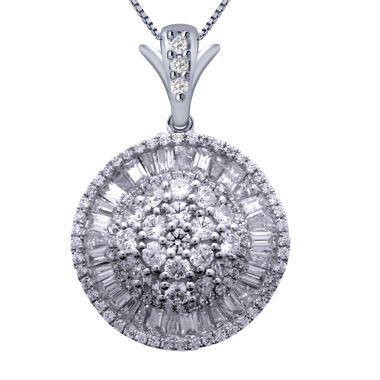 jcpenney.com | 2 CT. T.W. Certified Diamond 14K White Gold Pendant Necklace