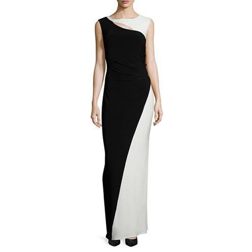 Scarlett Sleeveless Cutout Two-Tone Gown - Tall