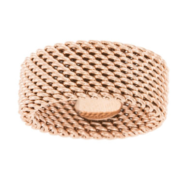 jcpenney.com | Rose IP Stainless Steel Mesh Eternity Band Ring