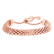 Rose IP Stainless Steel Mesh Adjustable Bracelet