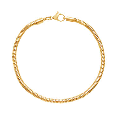 jcpenney.com | Yellow IP Stainless Steel Snake Chain Bracelet