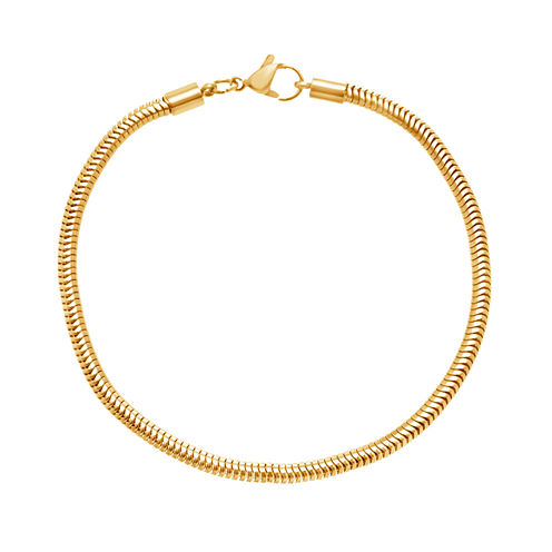 Yellow IP Stainless Steel Snake Chain Bracelet