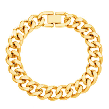 jcpenney.com | Yellow IP Stainless Steel Curb Chain Bracelet
