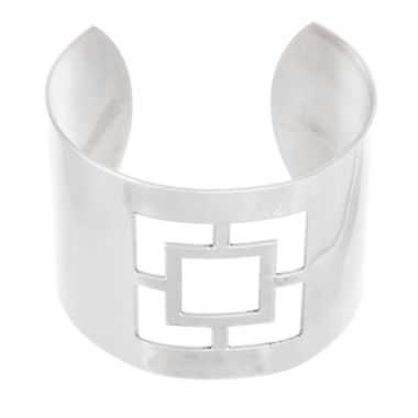 jcpenney.com | Stainless Steel Square Cut-Out Cuff Bangle