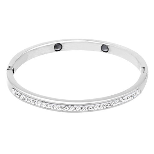 Girls Stainless Steel Crystal Bangle