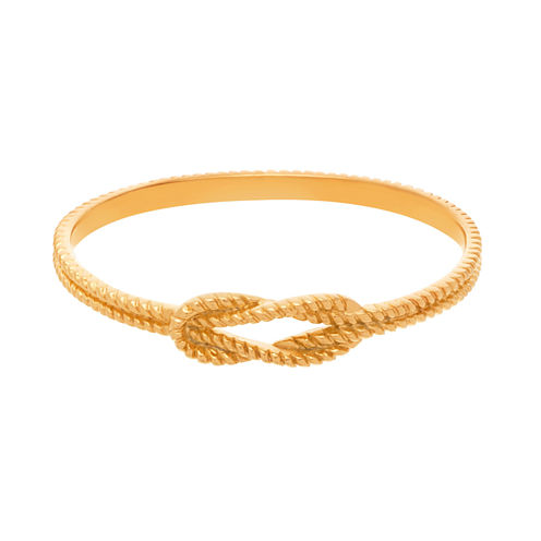 Yellow IP Stainless Steel Rope Knot Bangle