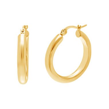 jcpenney.com | Yellow IP Stainless Steel Polished Hoop Earrings
