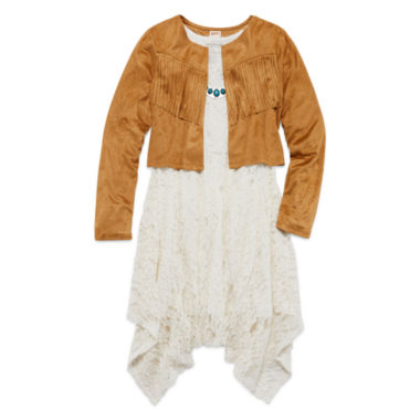 jcpenney.com | Arizona Sleeveless Lace Dress with Faux-Suede Jacket - Girls 7-16 and Plus