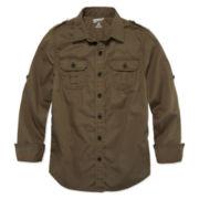Arizona Long-Sleeve Military Shirt - Boys 8-20 and Husky