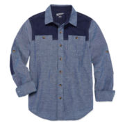 Arizona Long-Sleeve Cotton Utility Shirt - Boys 8-20 and Husky