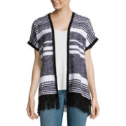 Arizona Sleeveless Fringe Poncho