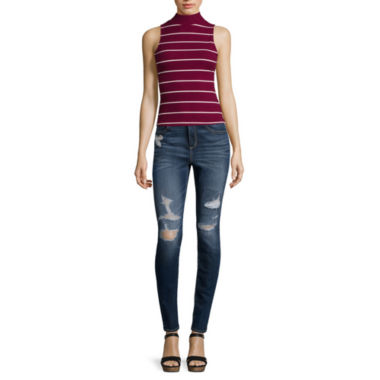jcpenney.com | Arizona Ribbed Tank Top or High-Rise Super-Skinny Jeans