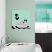 Bath Time by Brian Rubenacker Canvas Wall Art