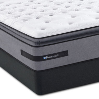 jcpenney.com | Sealy® Posturepedic® Plus Livermore Valley Cushion Firm Euro Pillow-Top - Mattress + Box Springs