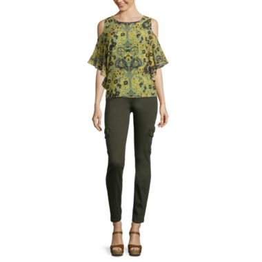 jcpenney.com | i jeans by Buffalo Cold-Shoulder Flutter Blouse or Cargo Skinny Jeans