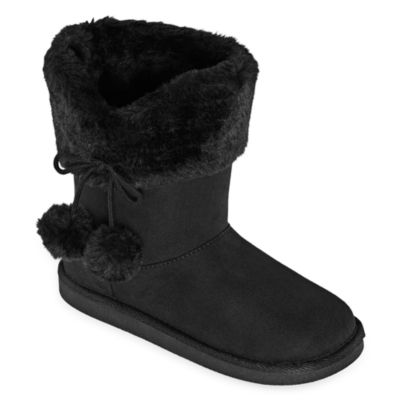 girls black winter boots