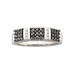 1/2 CT. T.W. Genuine Black & White Diamond Ring
