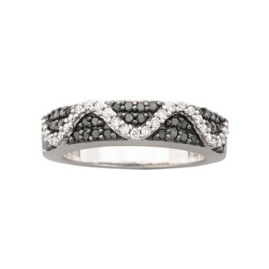 jcpenney.com | 1/2 CT. T.W. Black & White Diamond Ring Sterling Silver