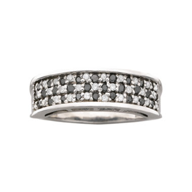 jcpenney.com | 1/2 CT. T.W. Genuine Black & White Diamond Ring