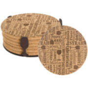 Thirstystone Wine Words Cork Coaster Gift Set