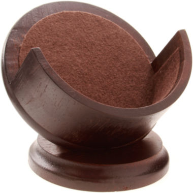 jcpenney.com | Thirstystone® Dark Walnut-Stained Coaster Holder