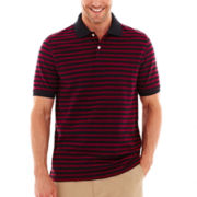 St. John's Bay® Oxford-Striped Polo Shirt