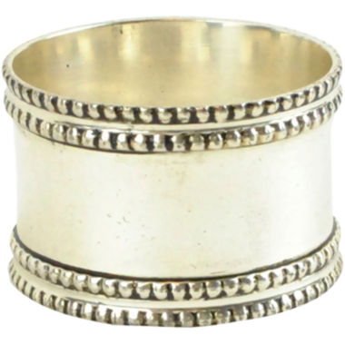 jcpenney.com | Set of 4 Silver-Tone Band Napkin Rings