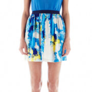 Joe Fresh™ Print Pull-On Flare Skirt