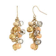 Mixit™ Gold-Tone Neutral Cluster Earrings