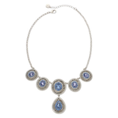 jcpenney.com | Monet® Blue Glass & Marcasite Drama Necklace