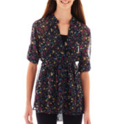 Weavers® 3/4-Sleeve Pintuck Tunic