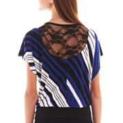 by&by Short-Sleeve Striped Dolman Top