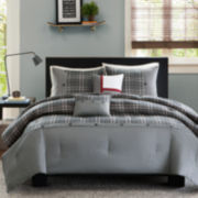 Intelligent Design Campbell Plaid Comforter Set