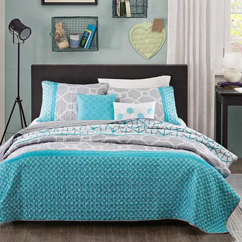 Intelligent Design Zara Geometric Quilt Set