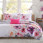 Intelligent Design Cassidy Floral Quilt Set