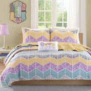 Mizone Courtney Chevron Quilt Set