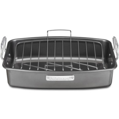 "jcpenney.com | Cuisinart® Ovenware 17x13"" Nonstick Roaster with Rack"