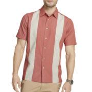 Van Heusen® Short-Sleeve Novelty Paneled Shirt