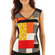 Worthington® Cap-Sleeve Colorblock Top - Tall