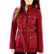 Liz Claiborne® Belted 4-Pocket Jacket