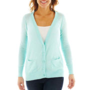 a.n.a® Long-Sleeve Button-Front Cardigan - Petite