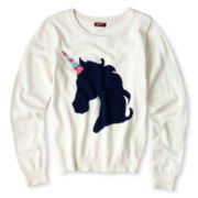 Arizona Critter Sequin Sweater - Girls 6-16 and Plus